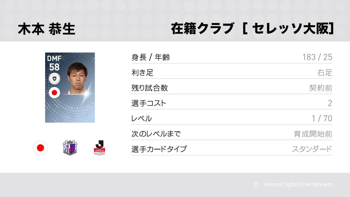 セレッソ大阪の木本 恭生選手