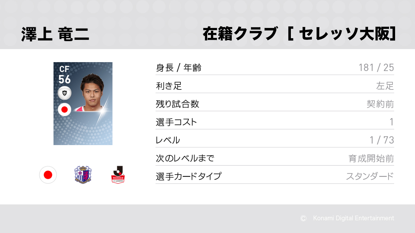 セレッソ大阪の澤上 竜二選手