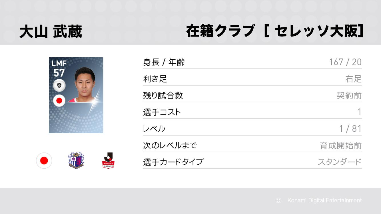 セレッソ大阪の大山 武蔵選手