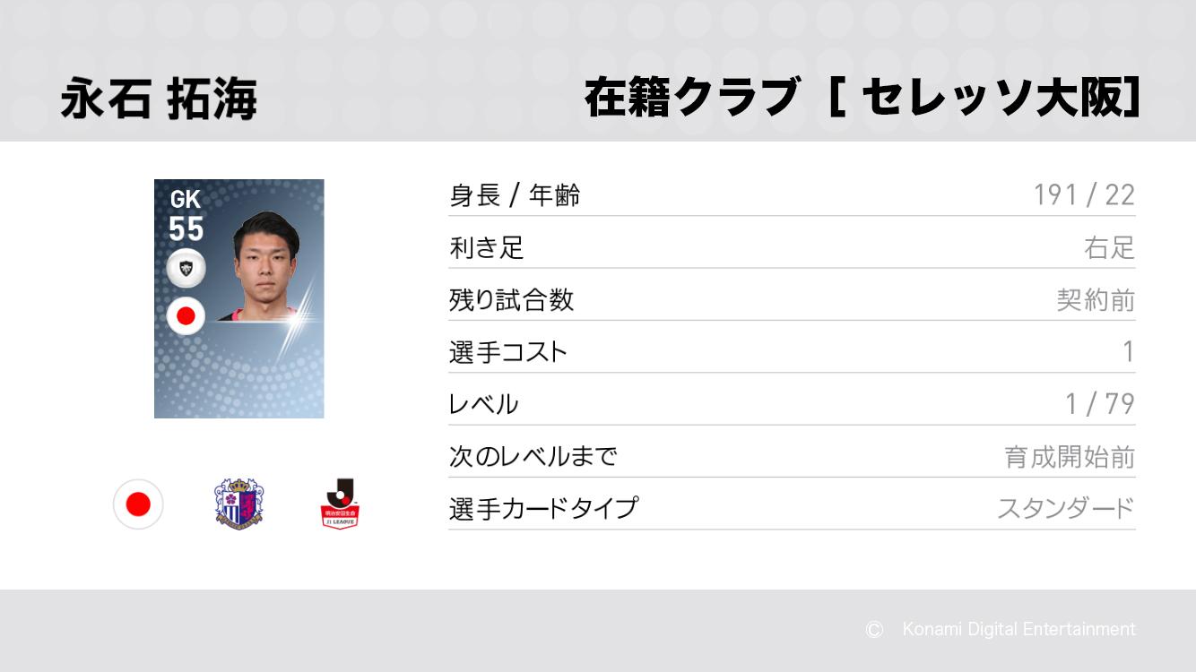 セレッソ大阪の永石 拓海選手