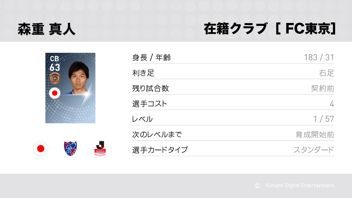 FC東京の森重 真人選手