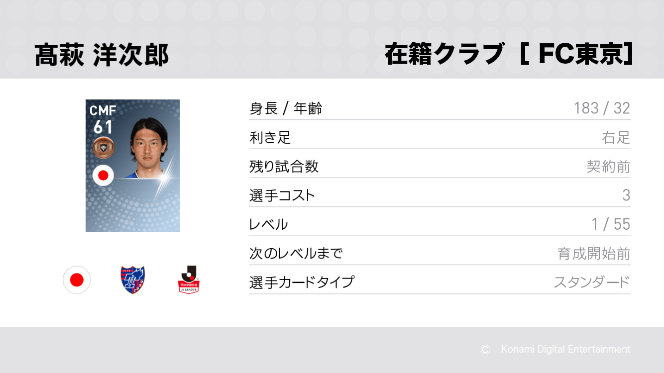 FC東京の高萩 洋次郎選手