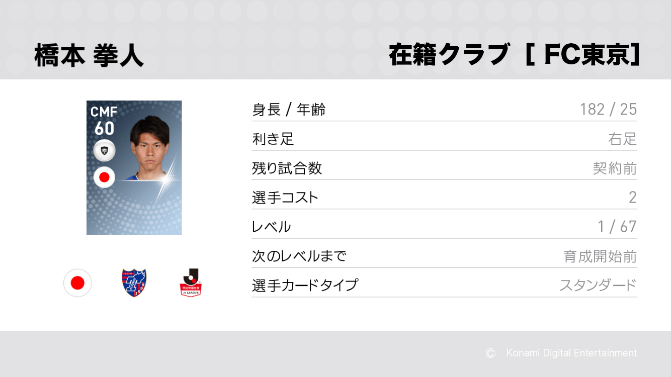 FC東京の橋本 拳人選手