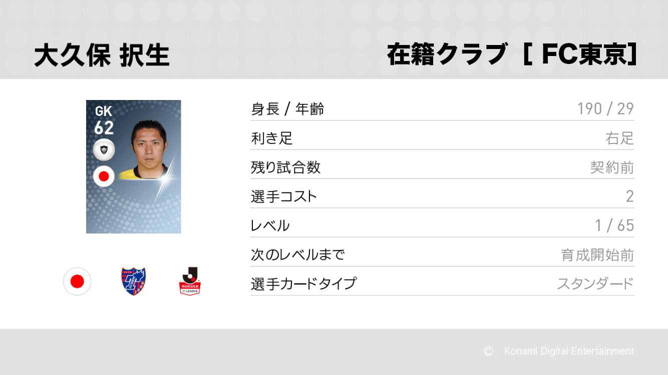 FC東京の大久保 択生選手