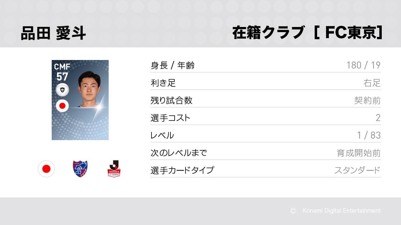 FC東京の品田 愛斗選手