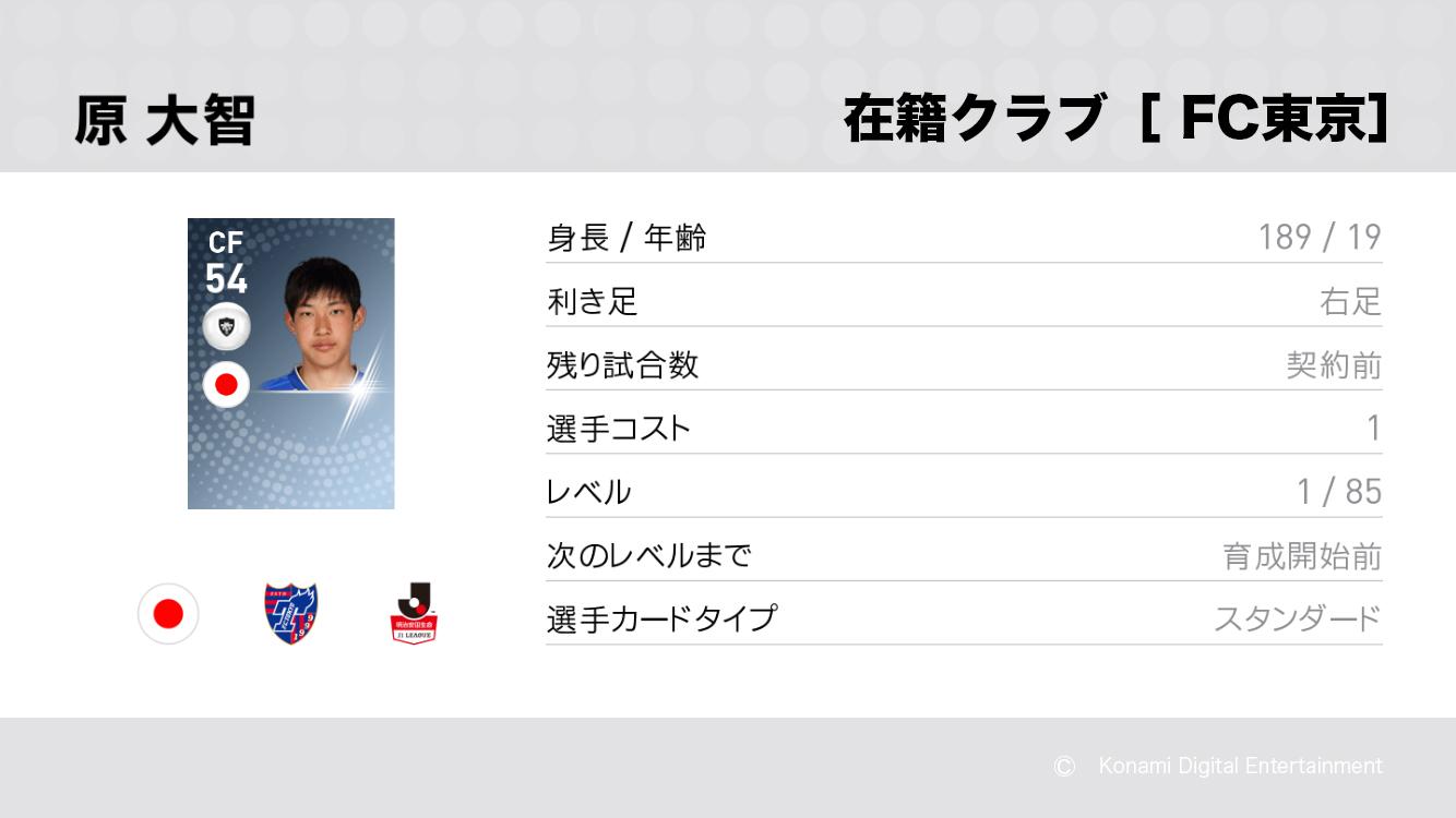 FC東京の原 大智選手