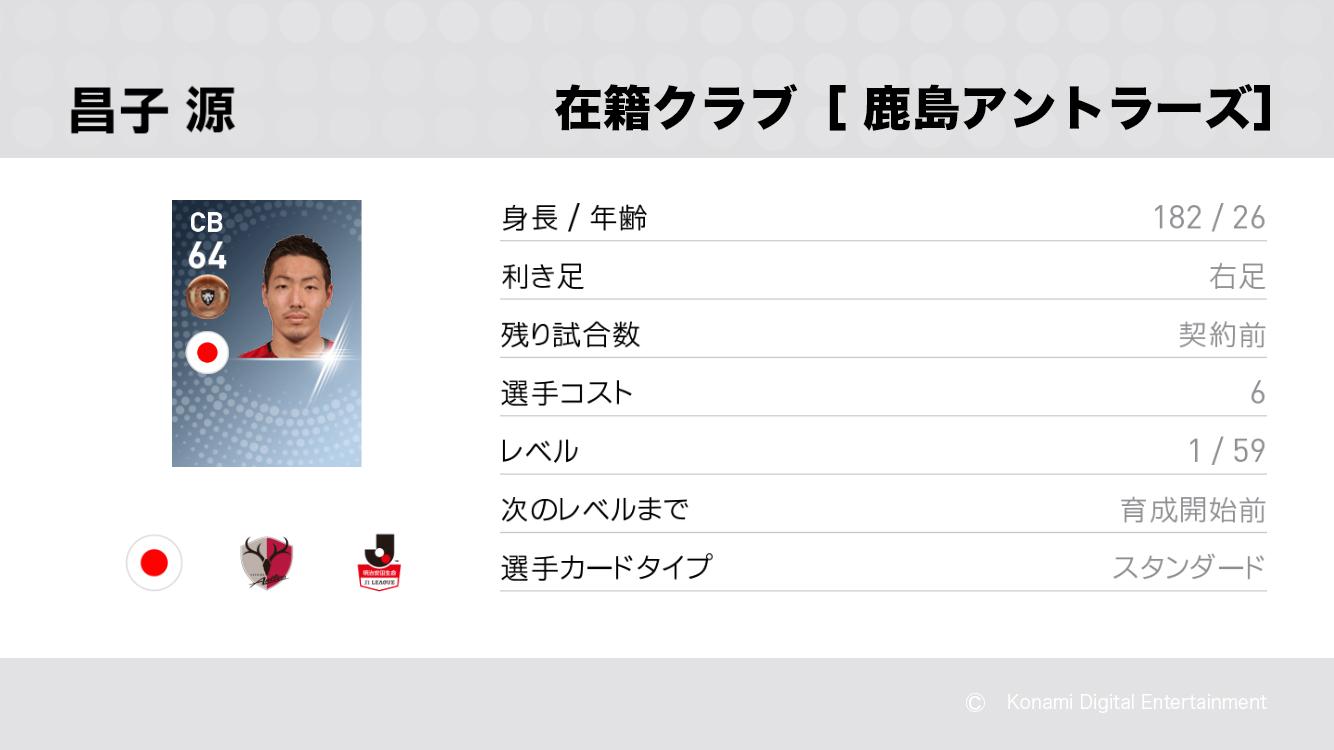 鹿島アントラーズの昌子 源選手